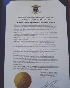 EDS Awareness Month Proclamation.