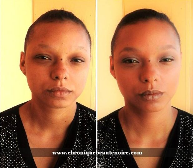 avant - après make up DOLLY NATUREL