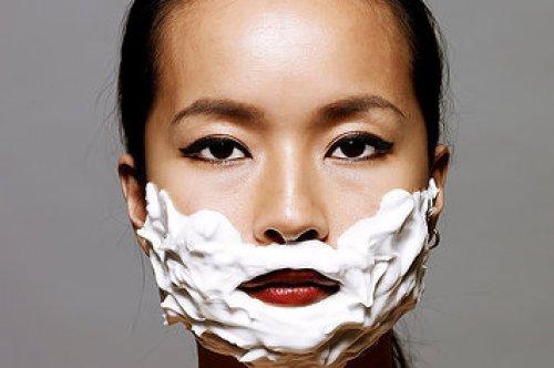 rasage visage femme