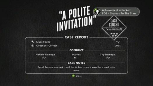 """Le rapport d'enquête : une présence de """"l'auteur"""", qui évalue le degré de réussite en fonction de la capacité du joueur à dérouler le bon fil narratif."""