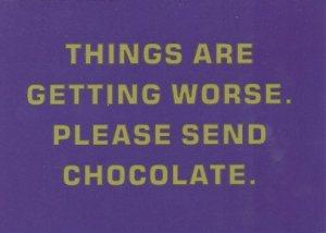 kaart please send chocolate