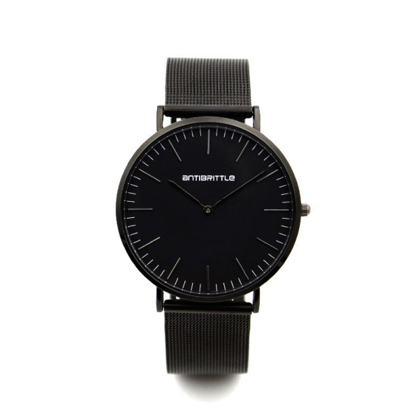 all black watch with simple dials