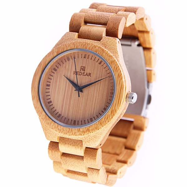 bamboo wood watch with bamboo strap