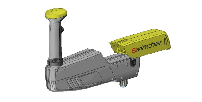 battery location ewincher, power assisted electric winch handle