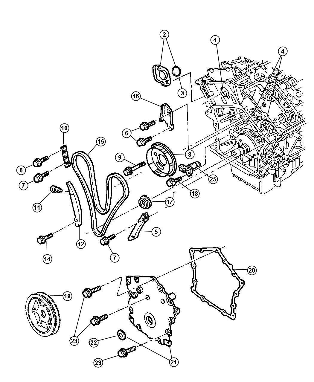 Chrysler 300 Cap Tensioner Primary Pincludes Ees Eee