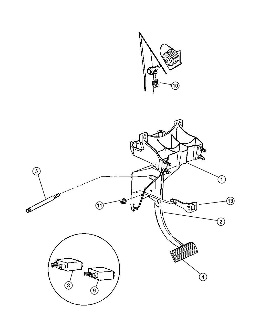 Chrysler Town Amp Country Bracket Brake Pedal W Auto