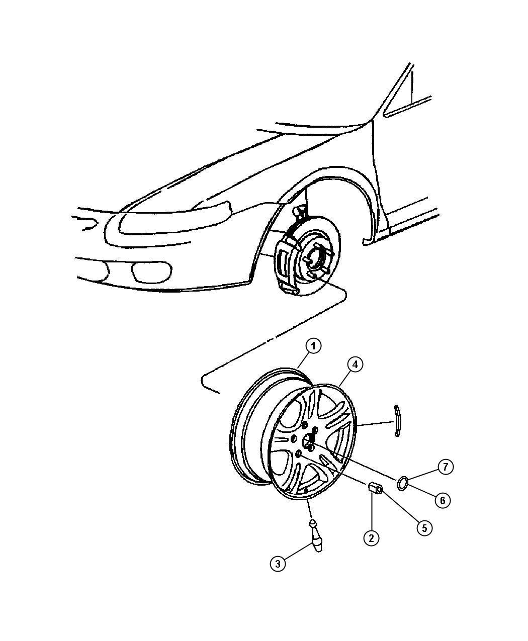 Chrysler Sebring Cap Wheel Center Chrome Wn5 Wn5 Chrome