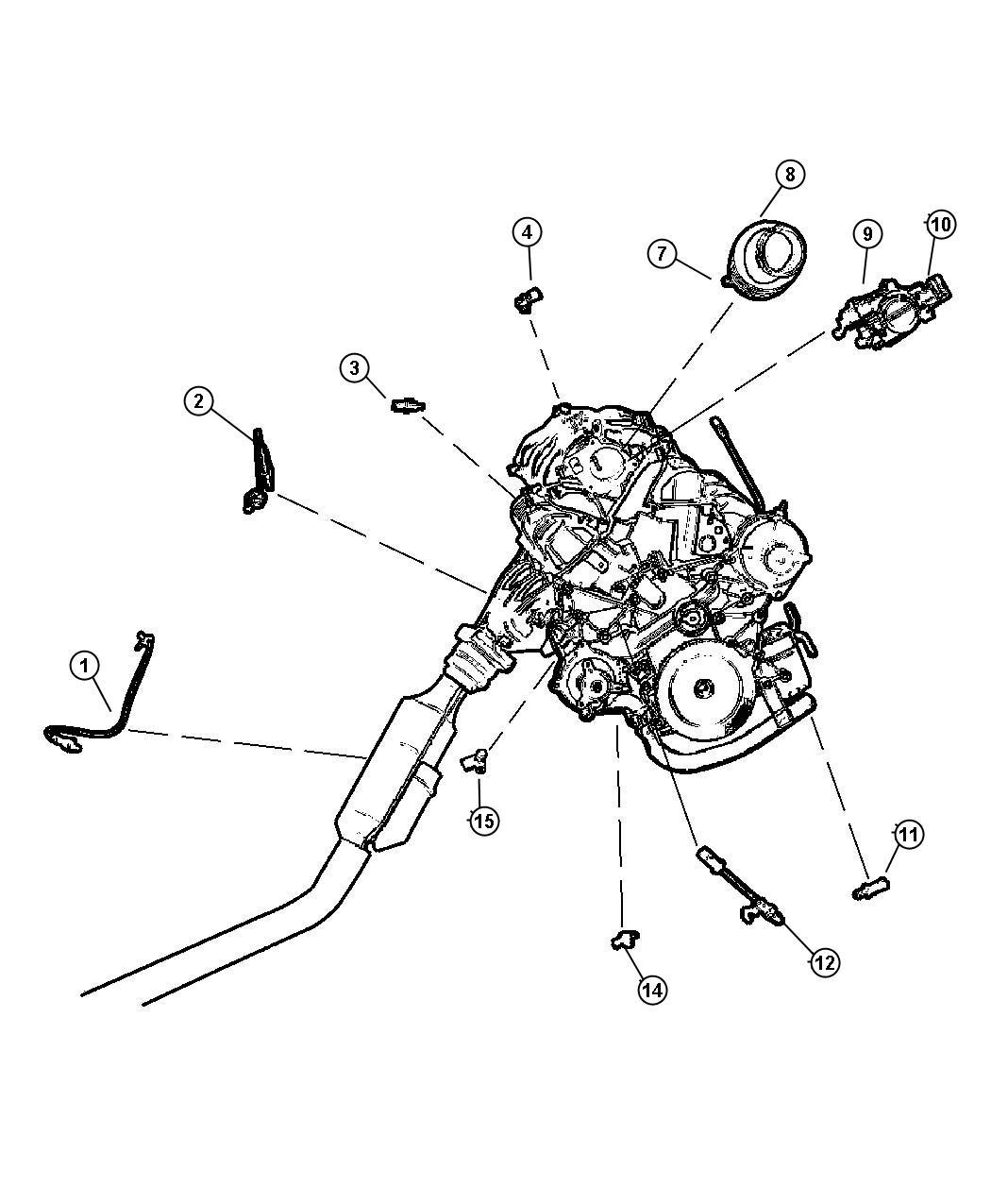 Chrysler Voyager Sensor Coolant Temperature