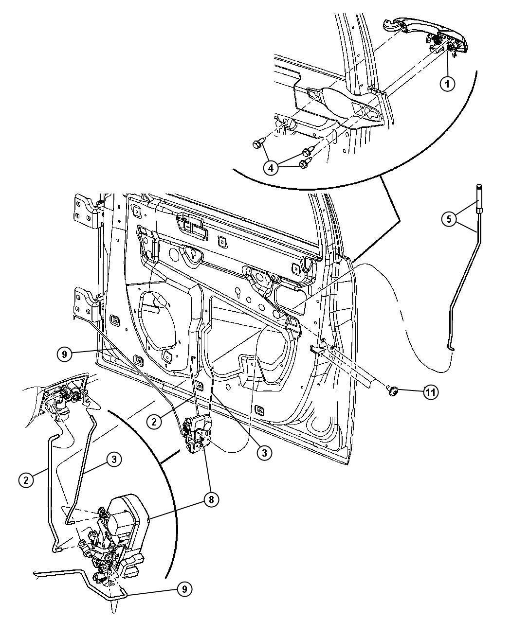 Chrysler 300 Clip Latch Link White Inside Remote