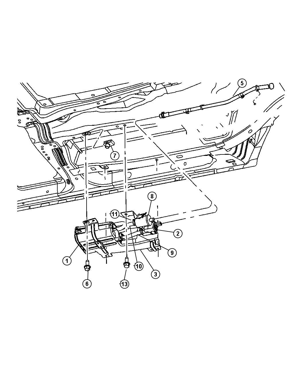 Chrysler Pacifica Hose Vacuum Canister Leak Pump