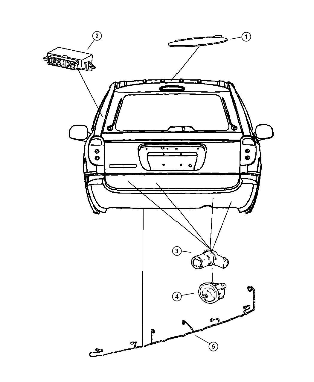 Chrysler Town Amp Country Wiring Rear Fascia Park Assist