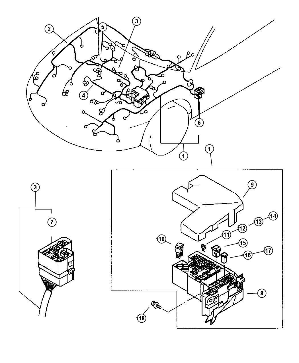 Chrysler Sebring Fusible Link Wiring Green Engine