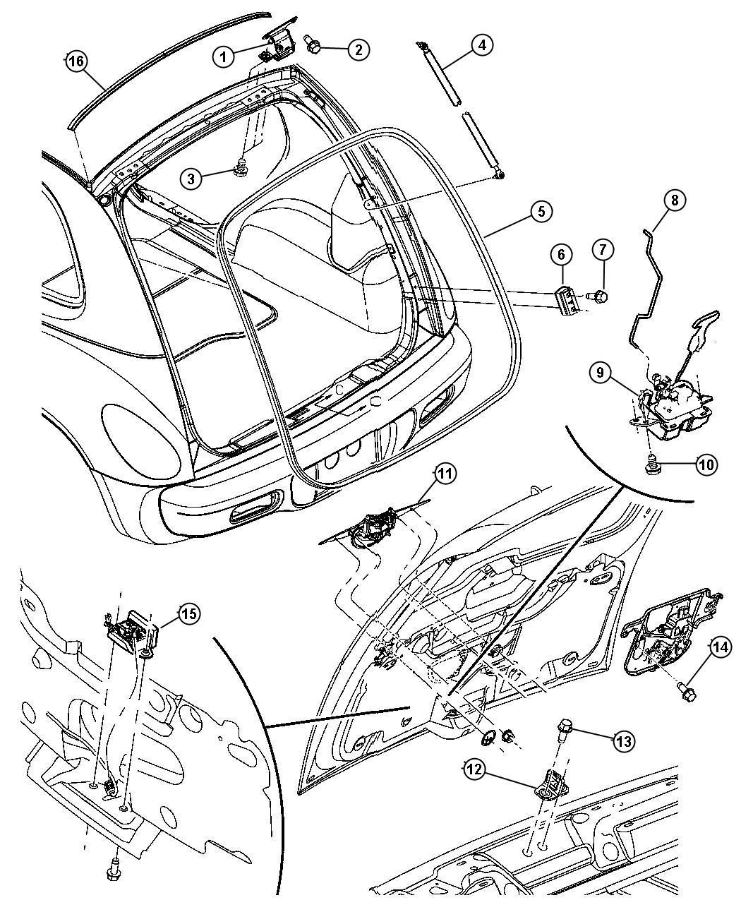 Chrysler Pt Cruiser Prop Liftgate