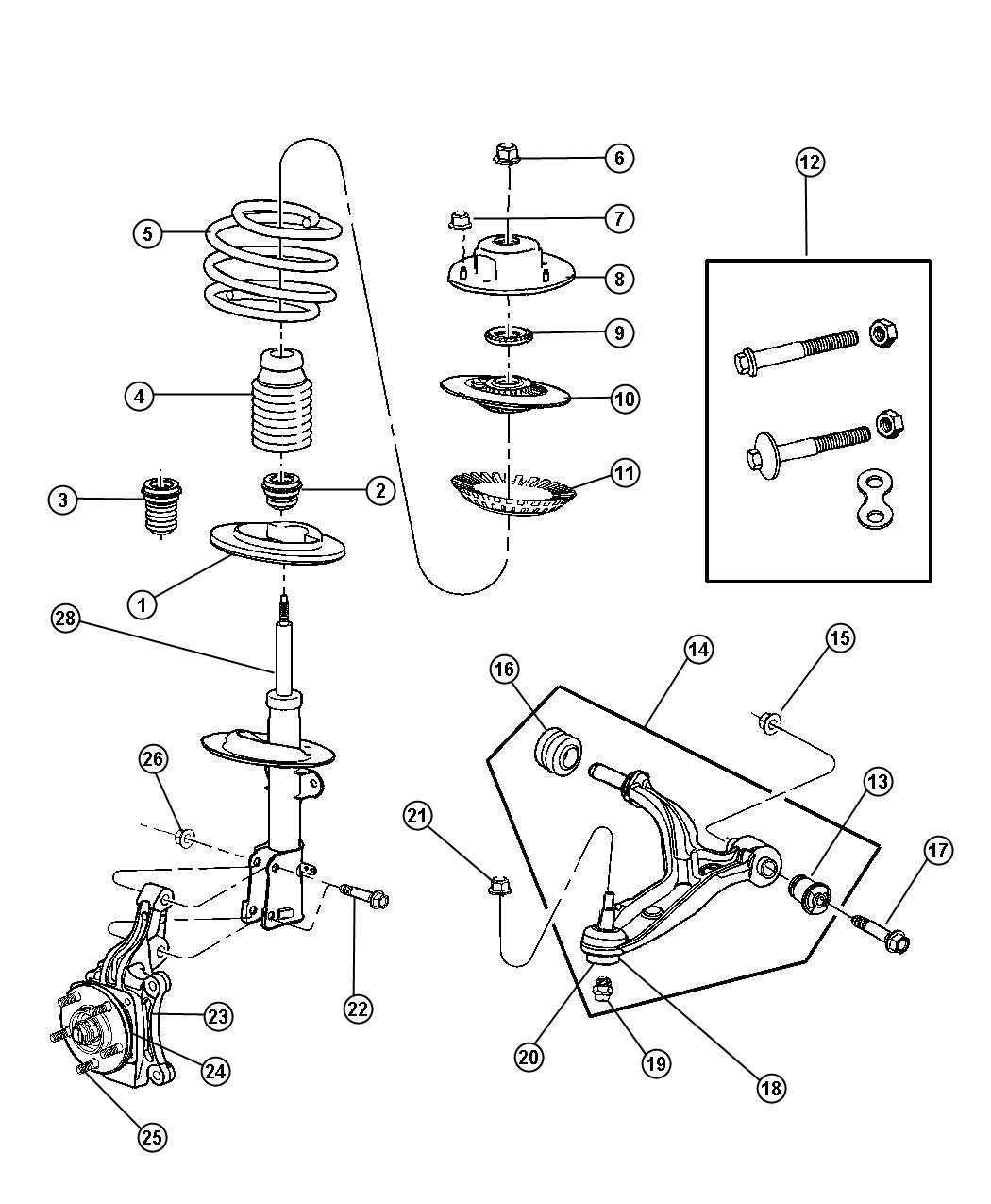 Chrysler Town Amp Country Used For Nut And Washer Hex