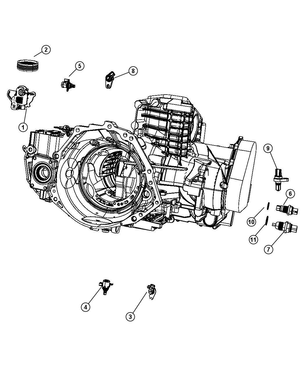 Chrysler Pacifica Sensor Trans Variable Force
