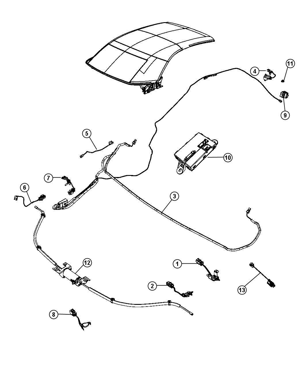 Chrysler Sebring Switch Folding Top Trim No