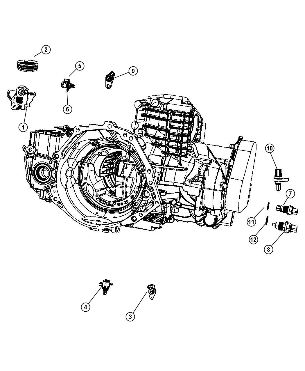 Chrysler Town Amp Country Speed Sensor Assy Input