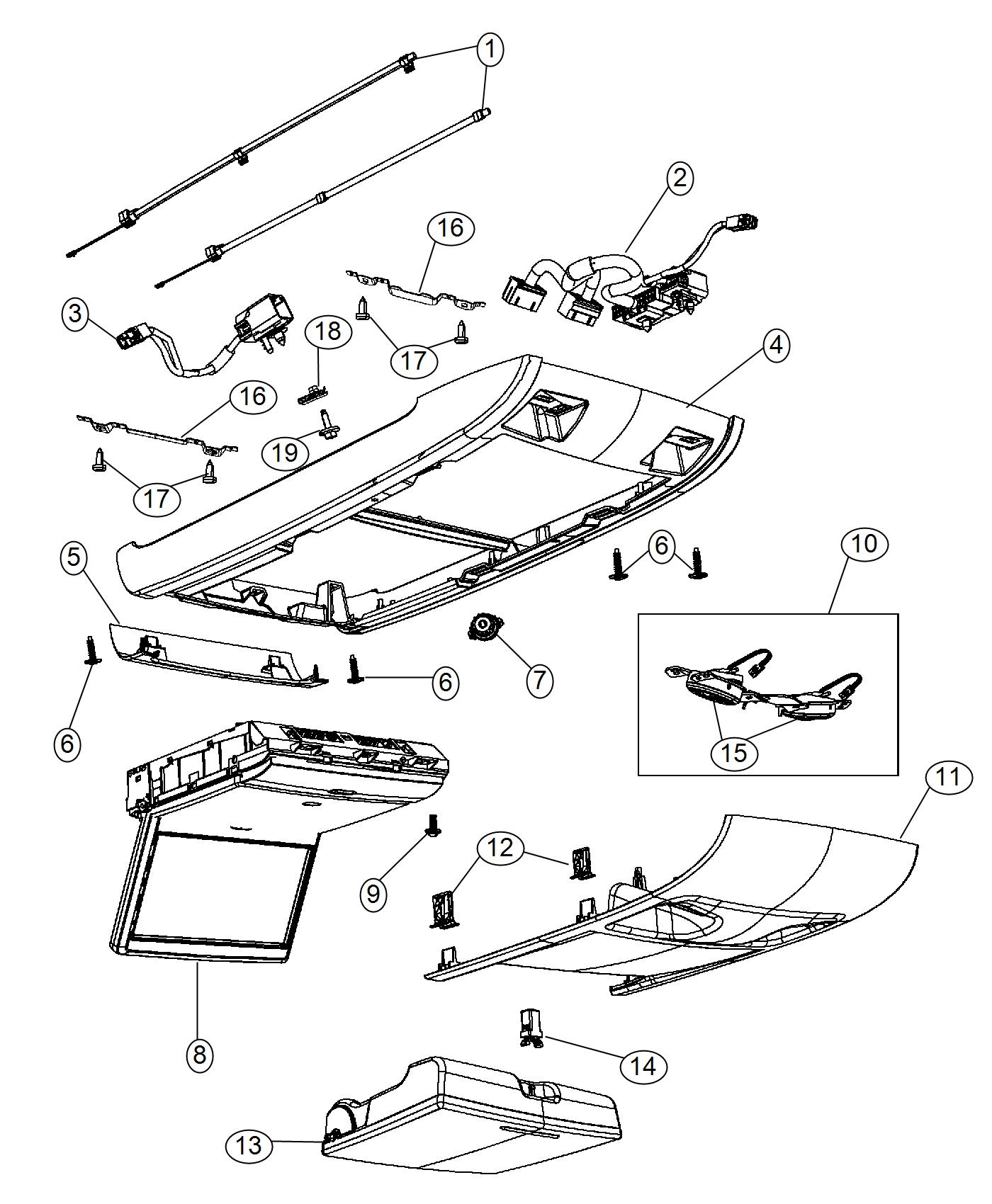Chrysler Town Amp Country Bracket Overhead Console