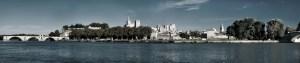 Avignon, le pont et le palais des Papes