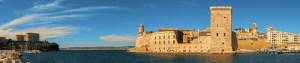 Marseille, le fort Saint-Jean à l'entrée du Vieux-Port