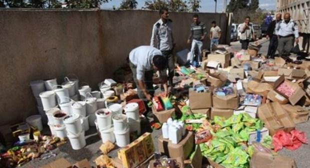 حجز وإتلاف 186 طن من المنتجات الغذائية الغير الصالحة للاستهلاك