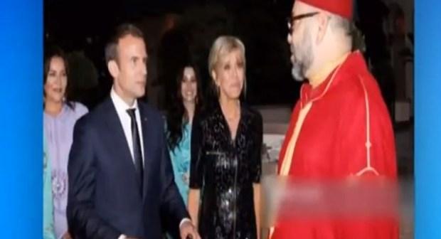 شاهد الاعلام الجزائري يقارن بين زيارة الرئيس الفرنسي ماكرون مع زوجته للمغرب و عدم قدومها للجزائر