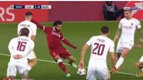 """فيديو..محمد صلاح يقود فريقه لانتصار عريض على """"الذئاب"""" في نصف نهائي ابطال اوروبا"""