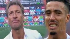 فيديو.. بكاء هستيري لمدرب المنتخب المغربي بعد الإقصاء من كأس العالم
