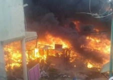 النيران تلتهم محلات قصديرية بسوق شعبي بالبيضاء