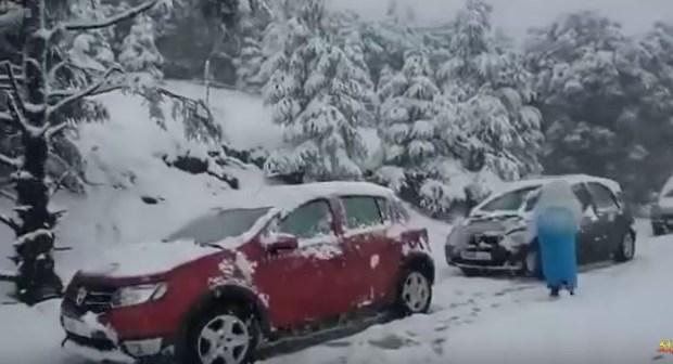 تساقط الثلوج بالمغرب