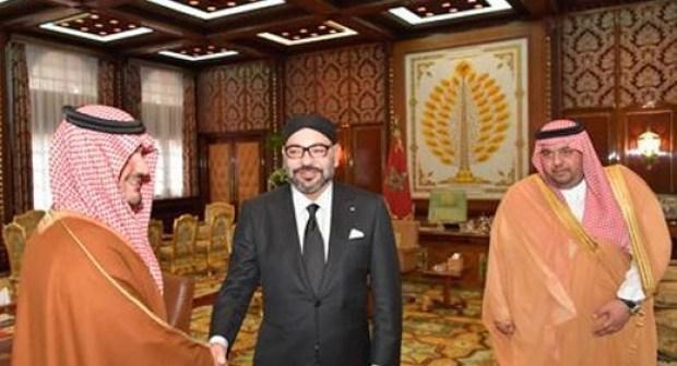 جلالة الملك محمد السادس يستقبل وزير الداخلية السعودي