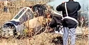 بالفيديو..تحطم مقاتلة عسكرية كانت تقوم بتداريب في تاونات
