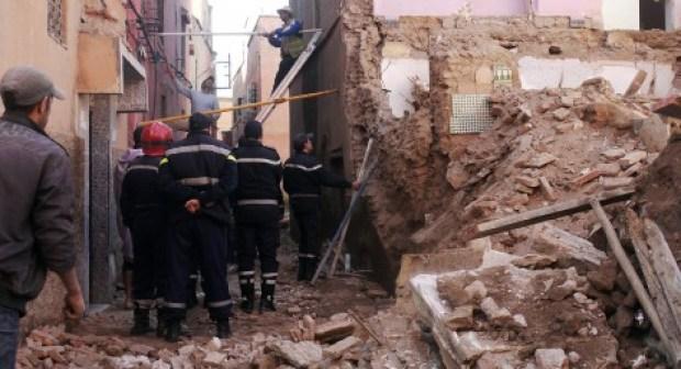 انهيار منزل فوق رؤس ساكنيه يوقع إصابات متفاوتة الخطورة بمراكش