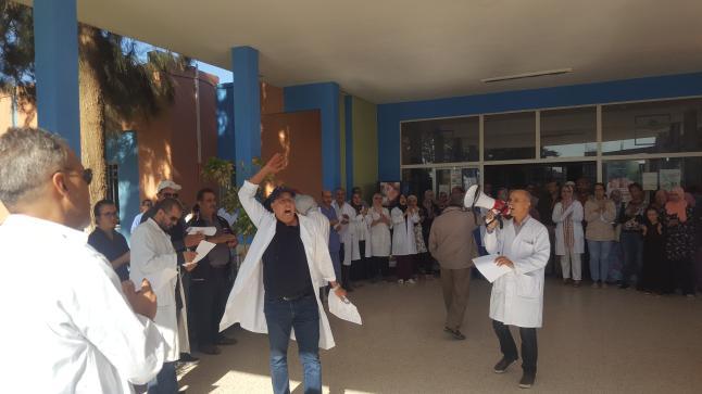 اشتوكة: بالصور…الشغيلة الصحية بالإقليم تقف في وجه الإشاعة وتقزيم المنجزات