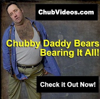 right - Fat Hairy Bear Jacks Off Chubby Cock