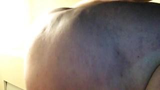 Closeup of fat chub ass & balls