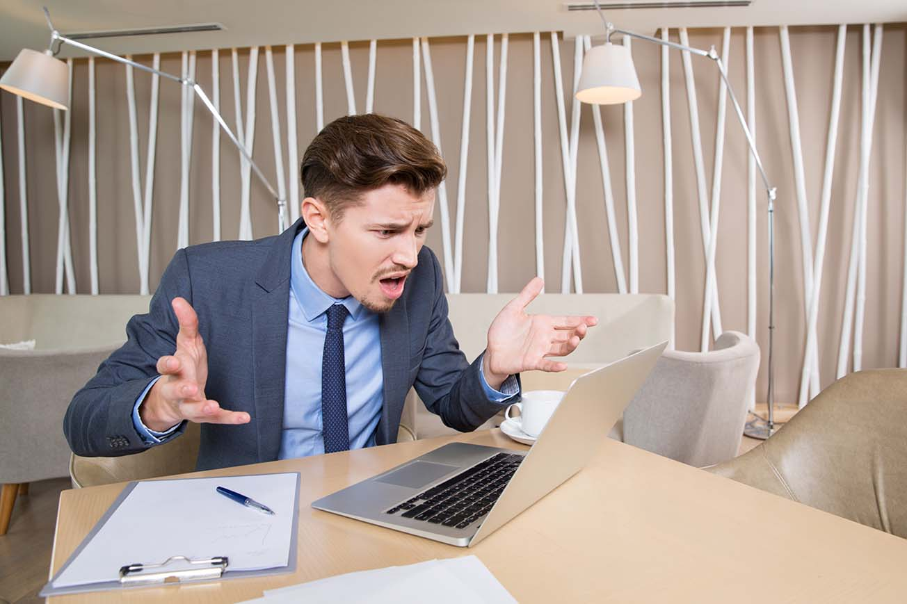 Website Design with Negative Business Impact