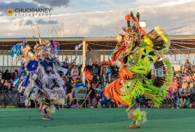 Grass dance competition at North American Indian Days in Browning, Montana, USA