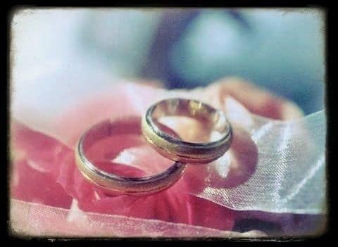 Our wedding rings...