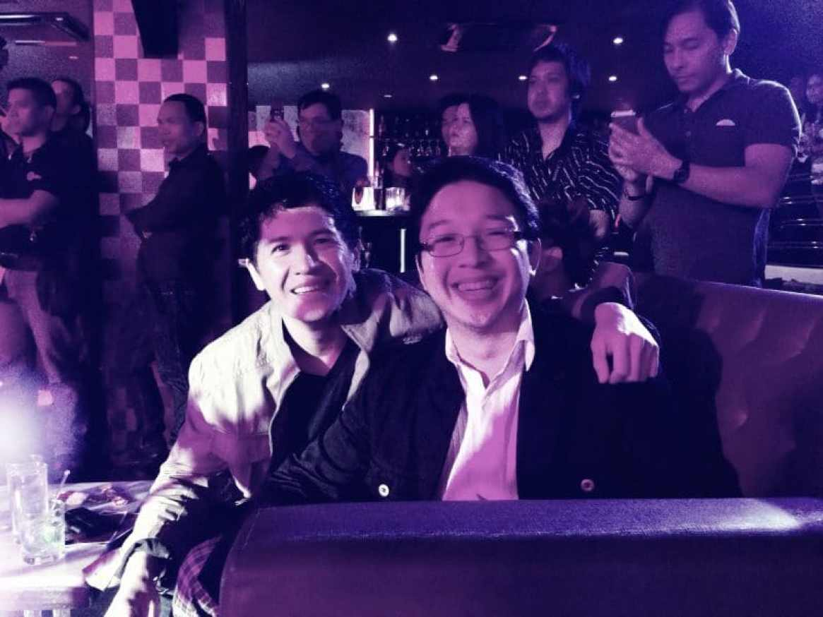 With long time friend and good buddy, RJ Ledesma