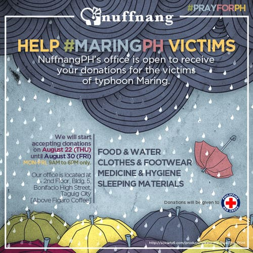 Nuffnang Philippines now accepts donations for victims of Typhoon Maring