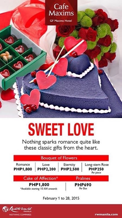 Valentine's Day 2015 at Resorts World Manila - Cafe Maxims