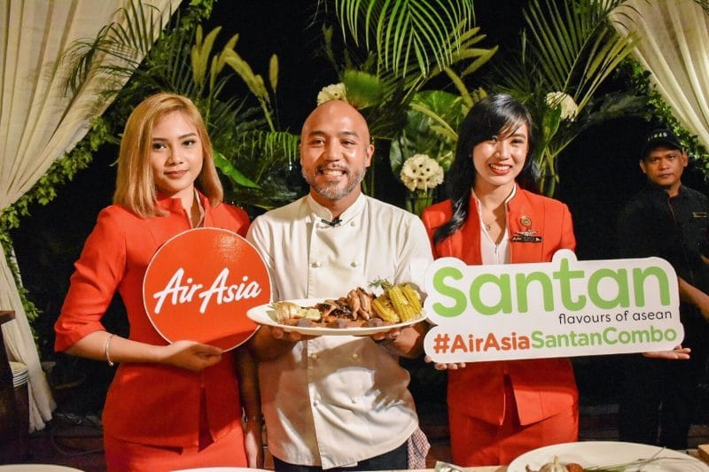 AirAsia Roasted Dalandan Chicken with Pimiento Sauce and Malagos Chocolate - Chef JP Anglo