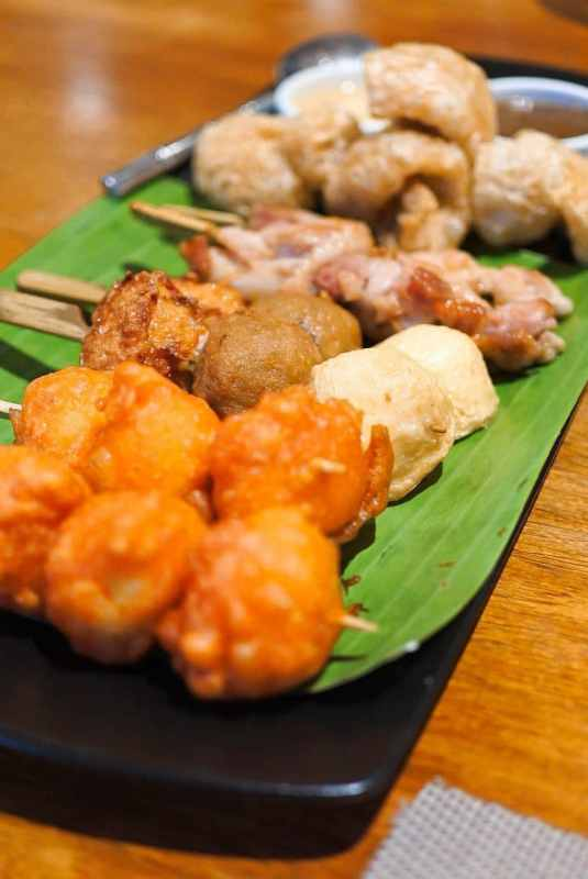 Asian Street Food Platter - Plum Restaurant - Lima Park Hotel