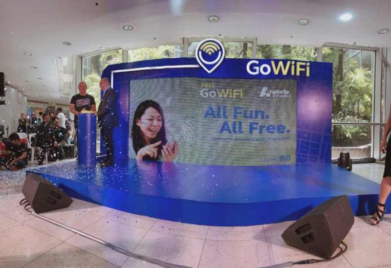Globe GoWiFi is officially at The Araneta Center