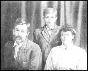 Johnny and his parents Sam and Mae (?)