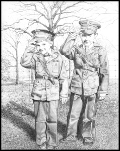 "Bobby and Kenny ""in uniform"" (1942)"