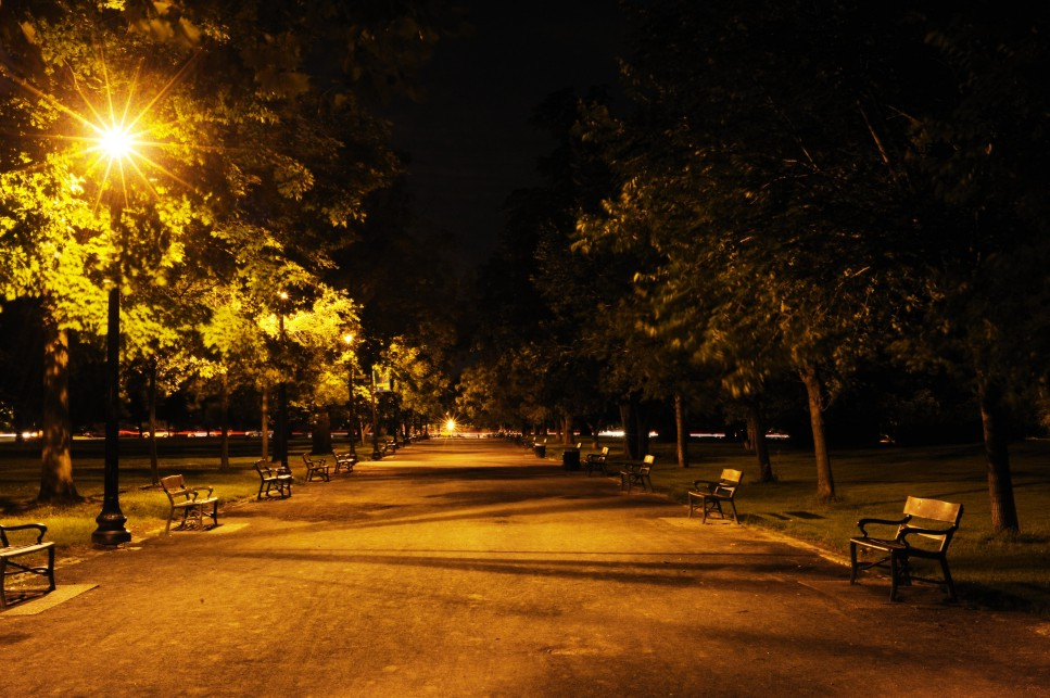 Washington Park After Dark.  Photo by Chuck Miller