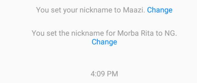 set messenger nicknames - change nickname