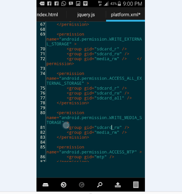 grant permission access to read SD card in Lollipop